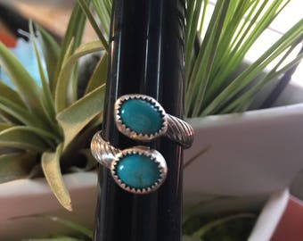 Crossover Kingman Turquoise Ring