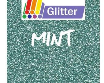 Siser Glitter Heat Transfer Vinyl - Iron On - HTV -  Mint