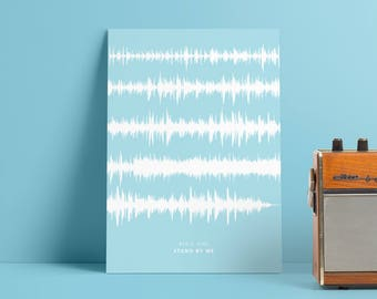 Personalized Soundwave Print - Sound Wave Poster - Any Song - Framed Personalized Voice Art - Any Colour - A4 A5 A3 PP100