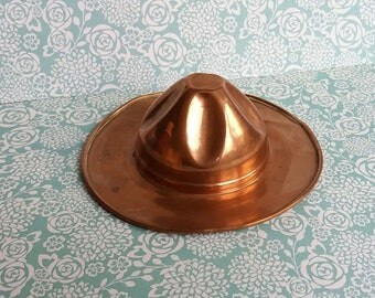 Vintage 1930's Copper Mountie or Campaign Hat Ashtray