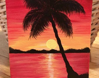 Sunset at the Beach Painting