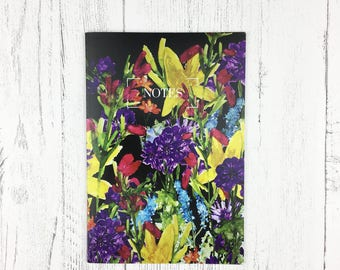 Notebook A5 / Mother's Day / Floral Stationery / Vibrant Floral Notepad / Floral Notebook / Bullet Journal / List Making  / Easter Gift