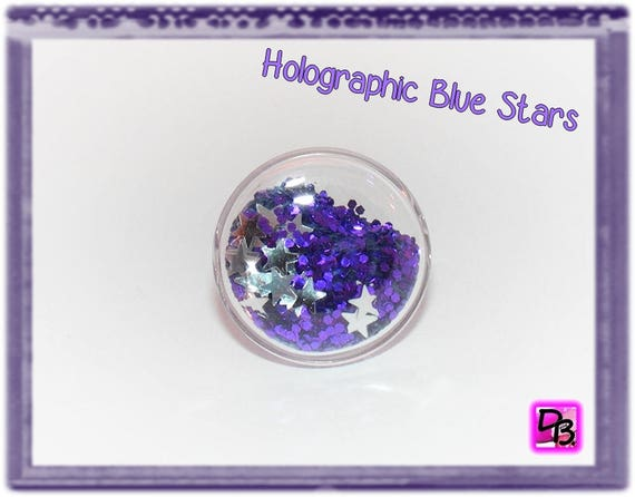 Bague globe [Holographic Blue Stars]
