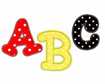 """Embroidery font - Applique font machine embroidery design - INSTANT DOWNLOAD - 3"""" 4"""" 5"""" sizes pes hus jef vip vp3 xxx dst exp"""