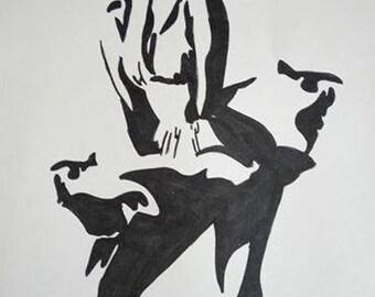 black and white MARILYN MONROE