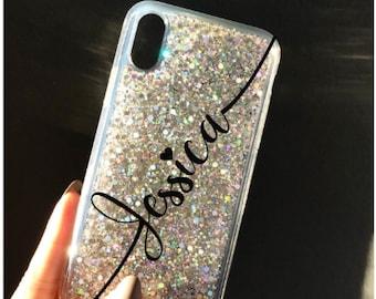 Glitter Phone case iPhone 7 case iPhone 7 Plus case iPhone 6s case iPhone 6s Plus case iPhone 8 case iPhone 8 Plus case iPhone x case