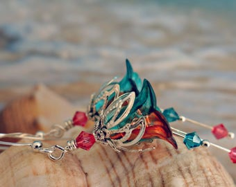 Tropical Earrings - Summer Earrings - Flamingo Pink Hawaiian Jewelry - Beach Vacation Earrings - Boho Tropical Jewelry - Beach Wedding Gift