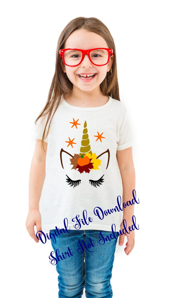 Toddler Thanksgiving Fall Unicorn Shirt Outfit Svg Files For