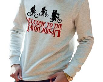 Welcome to the Upside Down Sweatshirt, TV, Stranger Things Jumper, Mens Womens Childrens, TV T Shirt, Christmas Sweatshirt  PT776