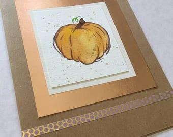 Handmade Greeting Card- Pumpkin