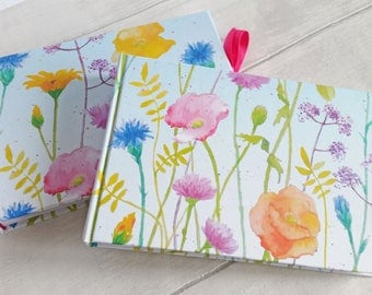 handmade photo albums featuring my original hand painted watercolour u0027summer meadowu0027 each holds - 4x6 Photo Albums
