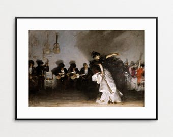El Jaleo by John Singer Sargent, 1882 - Giclee Print - Spanish Gypsy Dancer - Musicians - Fine Art Wall Decor - Free Shipping to USA
