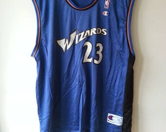 Vintage Champion Michael Jordan Washington Wizards Jersey Medium size 48 Rare