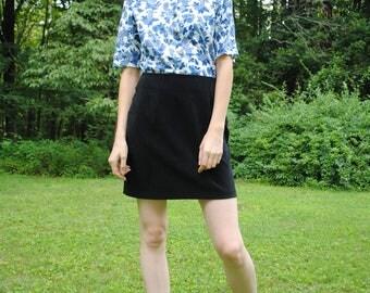Vintage Skirt, 80's Vintage, Briggs Skirt, Mini Skirt, Black Mini Skirt, Vintage Clothing, Small/Medium, Grunge, Soft Grunge
