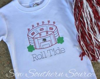 Embroidered Roll Tide Football Stadium Shirt