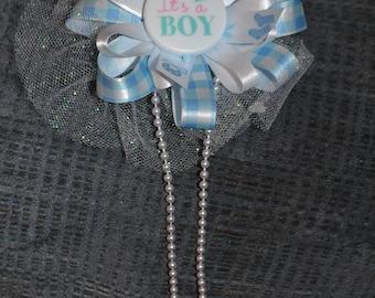 It's A Boy.  pin corsage