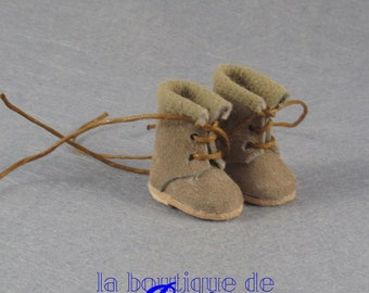 Suede Boots for Blythe doll-leather boots back for Blythe