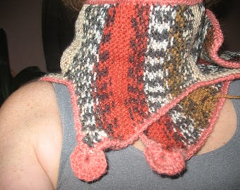 SCARF KNIT COLLAR