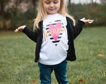 Kids Valentines shirt, girls valentines day shirt, valentines day shirts, Personalized Valentines Shirt, toddler girl valentine outfit