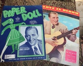 Bing Crosby Sheet Music - Paper Doll - Love in Bloom