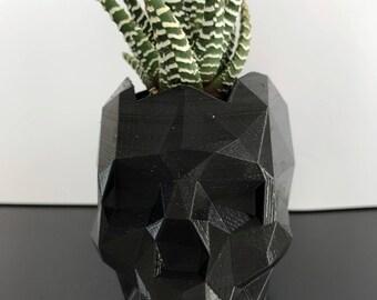 3D printed skull flower pot