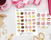 Summer Cakes Planner Stickers for Erin Condren, Kikki K, Happy Planner, schedule or Filofax, Baking, Pie, Cooking, Bake Off, Baking Day