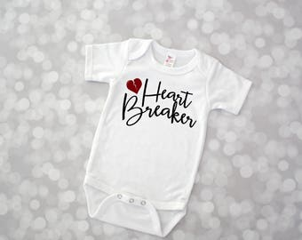 Heartbreaker Bodysuit - Cupid Valentines Shirt - Baby Valentine - Baby Girl Valentine Bodysuit - Baby Boy Valentine Bodysuit