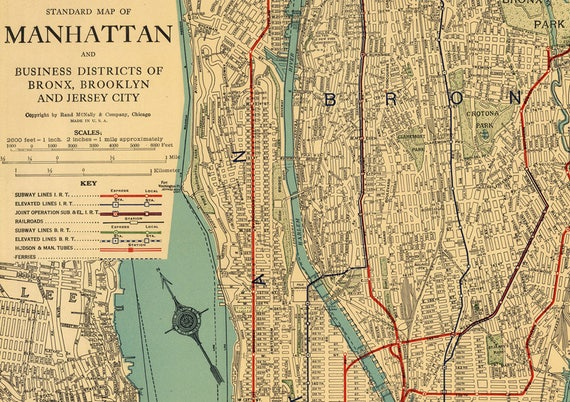 printable map of manhattan manhattan map new york map printable vintage new york 24076