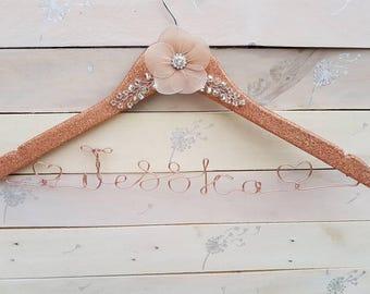 Glitter Hanger, personalised Hanger, Custom Hanger, Name Hanger, bide, wedding, bridesmaid, Sparkle, persomalized, hanger