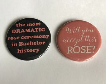 Bachelor Nation Pinback Buttons