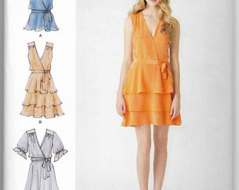 Layered Dress Top Belt Simplicity Sewing Pattern 1872 by Cynthia Rowley Miss Sizes 6-8-10-12-14