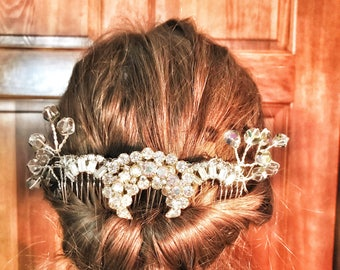 Rhinestone Hair Comb, Rhinestone Dress Clip, Rhinestone Designs, Bridal Hair Comb, Wedding Hair Comb, Bridal Hair Piece, Bridal Headpiece