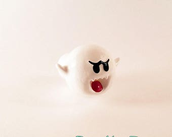 Ghost Boo Super Mario Home Decor Dresser Pull | Halloween Decor Geek Decor Pull Knob | Nintendo Video Game Drawer Pulls