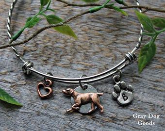 German Shorthaired Pointer Bracelet, GSP Jewelry, Hunting Dog Bracelet, Pointing Dog