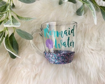 Mermaid Water Glitter Mug // Glitter Mug // Mermaid Mug // Mermaid // Coffee Cup Gift