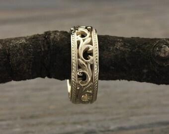 Goldring breit herren  Griechische Hochzeit Ring breit Hochzeitsband griechischen