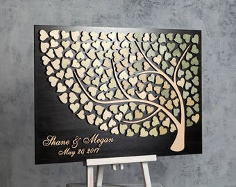 3D Wedding Guest Book Alternative Custom Guest Book Alternative Wedding Guestbook Tree Wedding guest sign in book Bridal Shower Guestbook