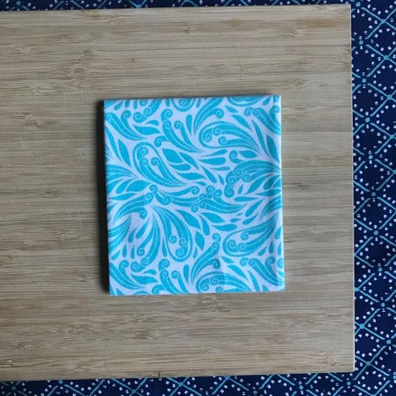 """Premium Cotton Fabric Fat Quarter - Designer Fabric - Quilting Fabric - Fat Quarters 18"""" x 21"""" Teal Swirl Print"""