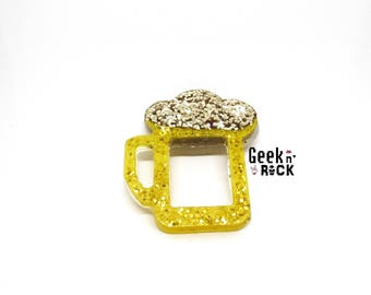 Brooch mug of beer happy hour gluten!
