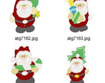 Chubby-Santas ( 8 Machine Embroidery Designs from ATW ) XYZ17M