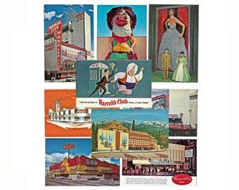 Mid Century Nevada Casinos Postcards, Unused Vintage, Reno, Virginia City, Winnemucca, Lake Tahoe, Carson City, Harrah's