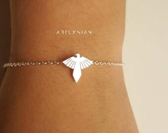 Phoenix bracelet, phoenix jewelry, bracelets minimalist, bracelet for you, mythology bracelet, mythology bracelet, phoenix charm, fire birds
