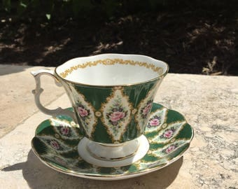Royal Albert Buckingham fine bone china coffee cup and saucer, perfect condition