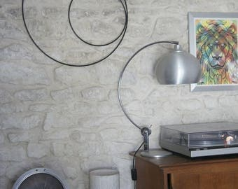 Shape round - design wall Sculpture - metal wall decoration, hand-made in France