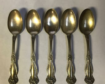 WM Rogers & Son AA silver spoons- set of 5