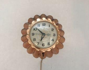 Midcentury GE Wall Clock / General Electric Plastic Clock