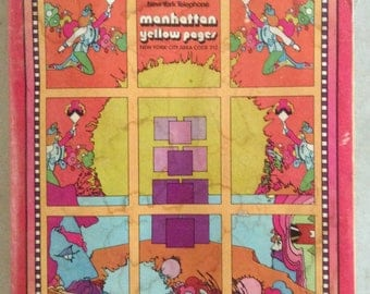 1973 Peter Max Manhattan Yellow Pages