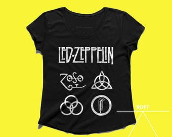Led Zeppelin design womens tshirt