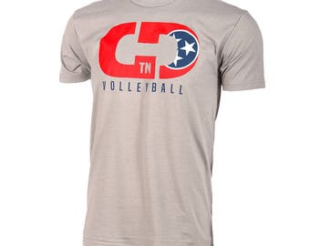 State Flag Logo: Tennessee Volleyball Short Sleeve T-shirt, Volleyball Shirts, Volleyball Gifts, TN Volleyball - Free Shipping!
