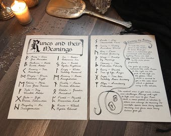Rune Reading - Digital Download, Book of Shadows Grimoire pages